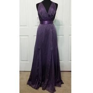 Watters Purple Formal Halter Gown